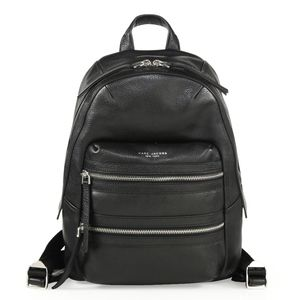 NEW Marc Jacobs Black Leather Biker Backpack